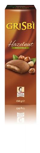 150g GRISBI Biscuiti umpluti cu crema de alune GRISBI