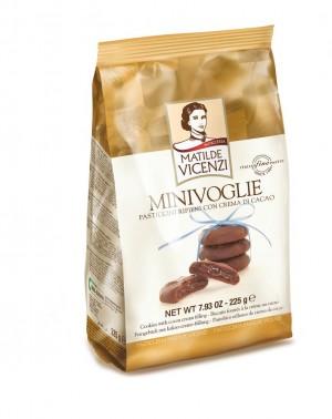 225g Biscuiti umpluti cu crema de cacao MINI VOGLIE