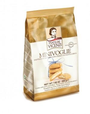 225g Biscuiti umpluti cu crema de patiserie MINI VOGLIE