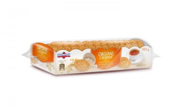 25490 – 190g Biscuiti ovaz cu seminte susan – Owsiane z sezamem