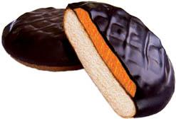 51540 – 1Kg Piscot umpl. portocale si glaz. Cacao – Jaffa cake pom.