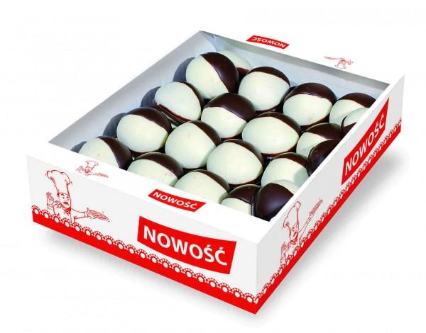 54053 – 1.4Kg Turta dulce umpl. caise cu glaz. cacao si alba – Piernik laciaty
