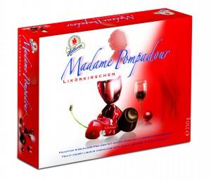 Halloren-250g Madame Pompadour Praline de ciocolată umplute cu cireșe și lichior de cireșe