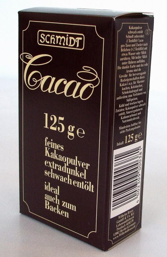 cacao schmidt 125g