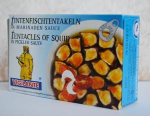 tentacule de calamar in sos marinat