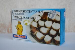 tentacule de calamar in ulei de masline